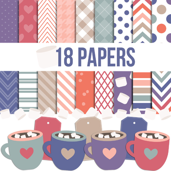 Digital Papers and Frames Cocoa Jumbo Set