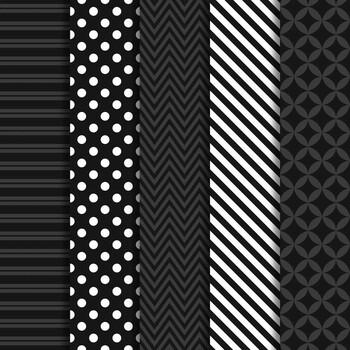 Digital Papers and Frames Color Pop Black