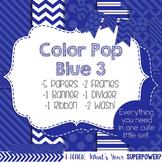 Digital Papers and Frames Color Pop Blue 3