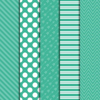 Digital Papers and Frames Color Pop Green 2