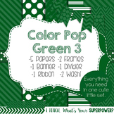 Digital Papers and Frames Color Pop Green 3