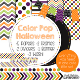 Digital Papers and Frames Color Pop Halloween
