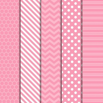 Digital Papers and Frames Color Pop Pink 1