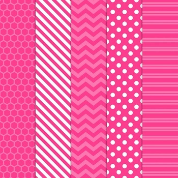 Digital Papers and Frames Color Pop Pink 2