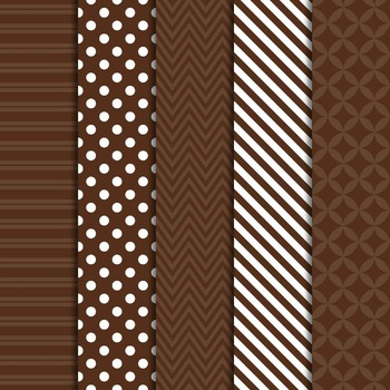 Digital Papers and Frames Color Pop Brown 1
