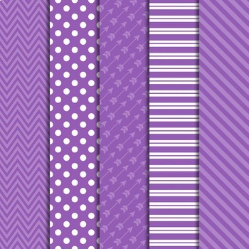 Digital Papers and Frames Color Pop Purple 2