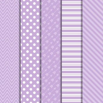 Digital Papers and Frames Color Pop Purple 3