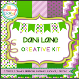 Digital Papers and Frames DANI LANE Creative Kit