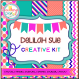 Digital Papers and Frames DELILAH SUE Creative Kit