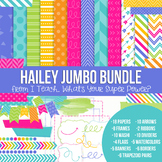 Digital Papers and Frames Hailey Jumbo Set