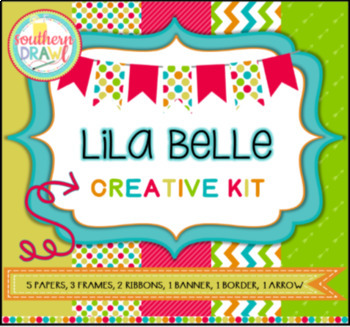 Digital Papers and Frames LILA BELLE Creative Kit (Teacher Appreciation FREEBIE)