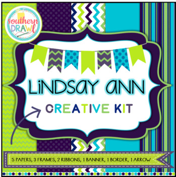 Digital Papers and Frames LINDSAY ANN Creative Kit