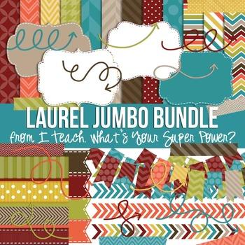 Digital Papers and Frames Laurel Fall Jumbo Set
