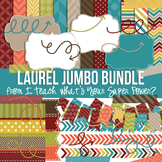 Digital Papers and Frames Laurel Fall Jumbo Set