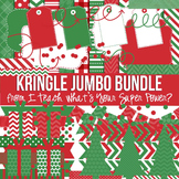 Digital Papers and Frames Kringle Christmas Jumbo Set