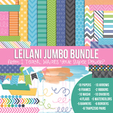 Digital Papers and Frames Leilani Jumbo Set