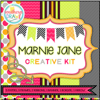 Digital Papers and Frames MARNIE JANE Creative Kit