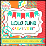 Digital Papers and Frames LOLA JUNE Creative Kit