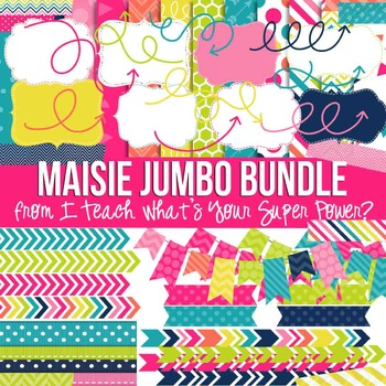 Digital Papers and Frames Maisie Jumbo Set