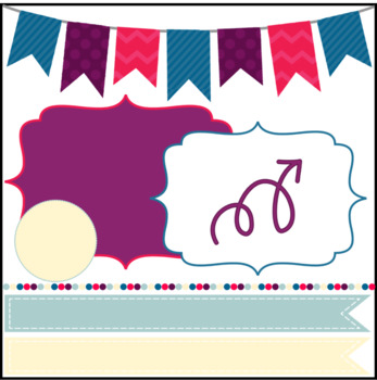 Digital Papers and Frames PENELOPE HOPE Creative Kit