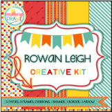 Digital Papers and Frames ROWAN LEIGH Creative Kit