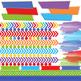 Digital Papers and Frames Rainbow Roy G Biv Jumbo Set