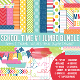 Digital Papers and Frames School Time Set 1