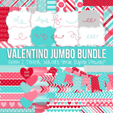 Digital Papers and Frames Valentino Jumbo Set Valentine's Day