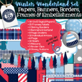 Winter Seller's Kit | Digital Paper & Accents