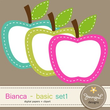 Digital Papers and Label Cliparts Basic Set 1, Teacher Sellers Kit