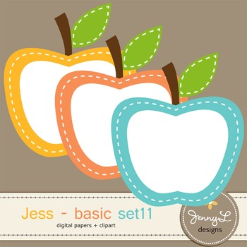 Digital Papers and Label Cliparts Basic Set 11, Teacher Sellers Kit