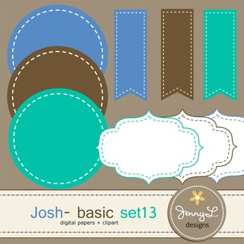 Digital Papers and Label Cliparts Basic Set 13, Teacher Sellers Kit