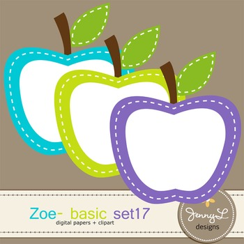 Digital Papers and Label Cliparts Basic Set 17, Teacher Sellers Kit