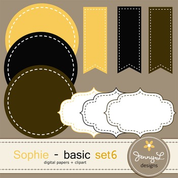 Digital Papers and Label Cliparts Basic Set 6, Teacher Sellers Kit