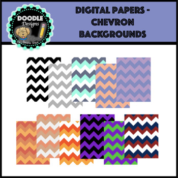 Digital Papers - chevron backgrounds
