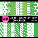 Digital Papers for Google Slides {Green}