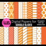 Digital Papers for Google Slides {Orange}