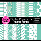 Digital Papers for Google Slides {Teal}
