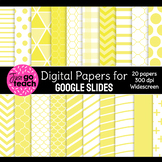 Digital Papers for Google Slides {Yellow}