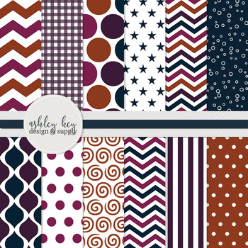 Digital Papers- Sunset Collection