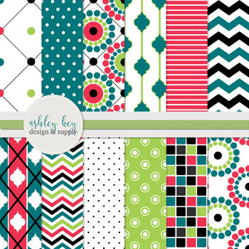 Digital Papers- Color Jive Collection
