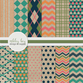 Digital Papers- Craft Paper Pop Collection