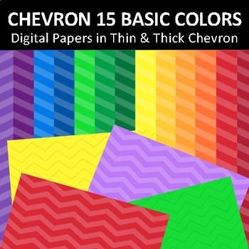 Digital Papers Chevron Basic Colors