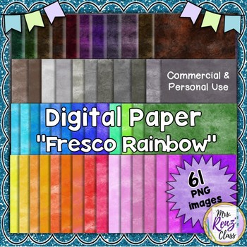 Digital Paper with Fresco Textures  61 Images PNG Mega Set of Papers