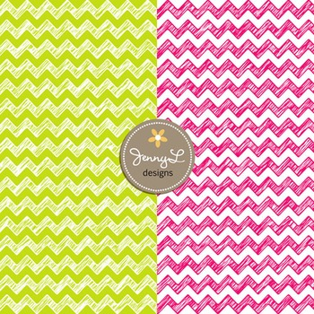 Digital Papers:Scribble Chevron in Bright Colors -SET1