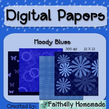 Digital Papers_Moody Blue