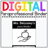 Digital Paraprofessional Binder | Digital Classroom Aide Binder