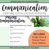 Digital Parent Communication Log | Google Forms | Single C