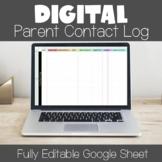 Digital Parent Contact Forms - Google Sheets