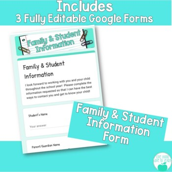 Digital Parent Forms with Google Forms